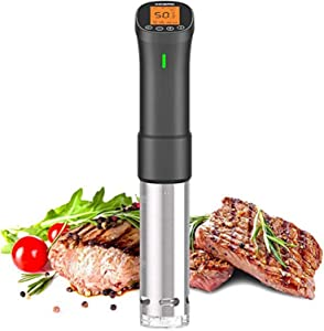 Inkbird Culinary Sous Vide, ISV-200W Wi-Fi Precision Cooker, 1000W Immersion Circulator with Stainless Steel Components, Digital Interface, Temperature and Timer for Kitchen