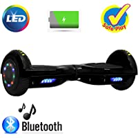"""Neja 6.5"""" Bluetooth Hoverboard -Self Balancing Scooter 2 Wheel Electric Scooter - UL Certified 2272 Bluetooth W/Speaker, LED Wheels and LED Lights"""