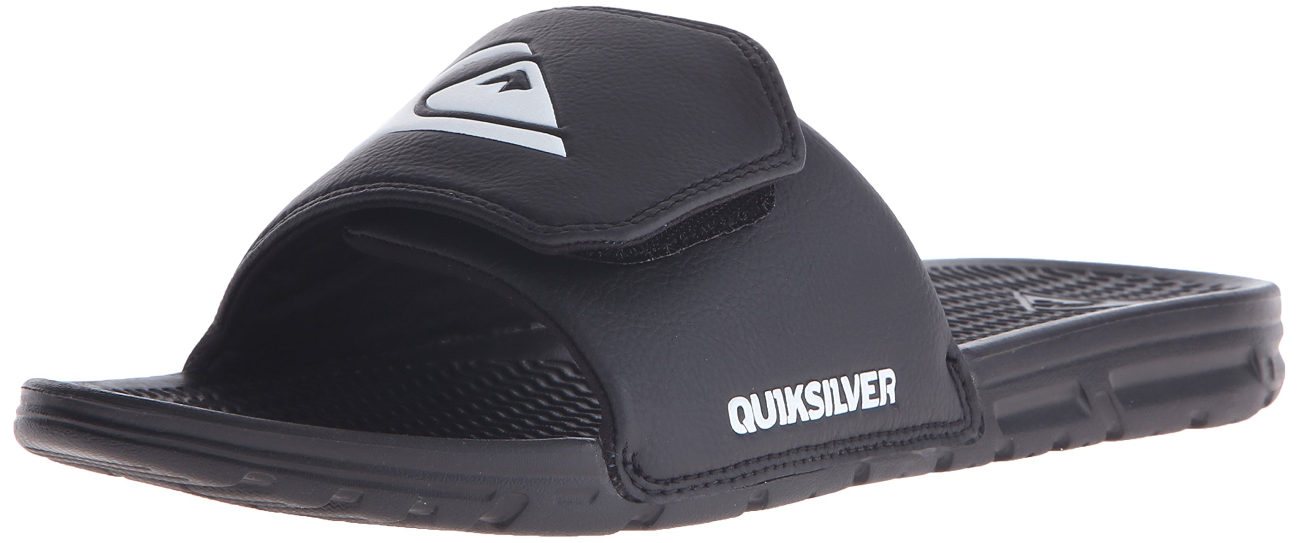 Quiksilver Men's Shoreline Adjust Sandal, Black/Black/White, 7 M US