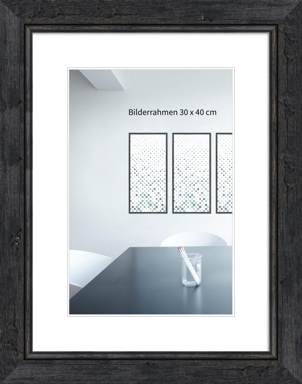 WandStyle H660 - フォトフレーム - ビンテージスタイル - 純木とガラス - 黒 - 10 x 15 cm   B01LE03KEC