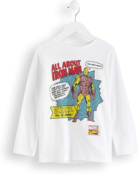Marca Amazon - RED WAGON Camisa Manga Larga Vengadores Iron Man Marvel Niños: Amazon.es: Ropa y accesorios