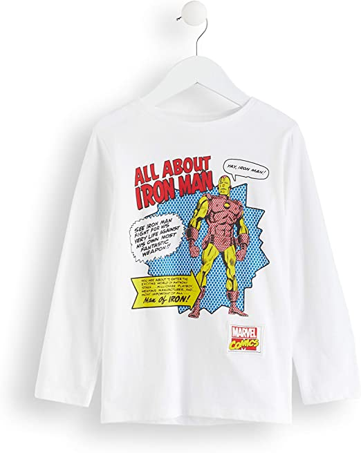 Marca Amazon - RED WAGON Camisa Manga Larga Vengadores Iron Man Marvel Niños: Amazon.es: Ropa y accesorios