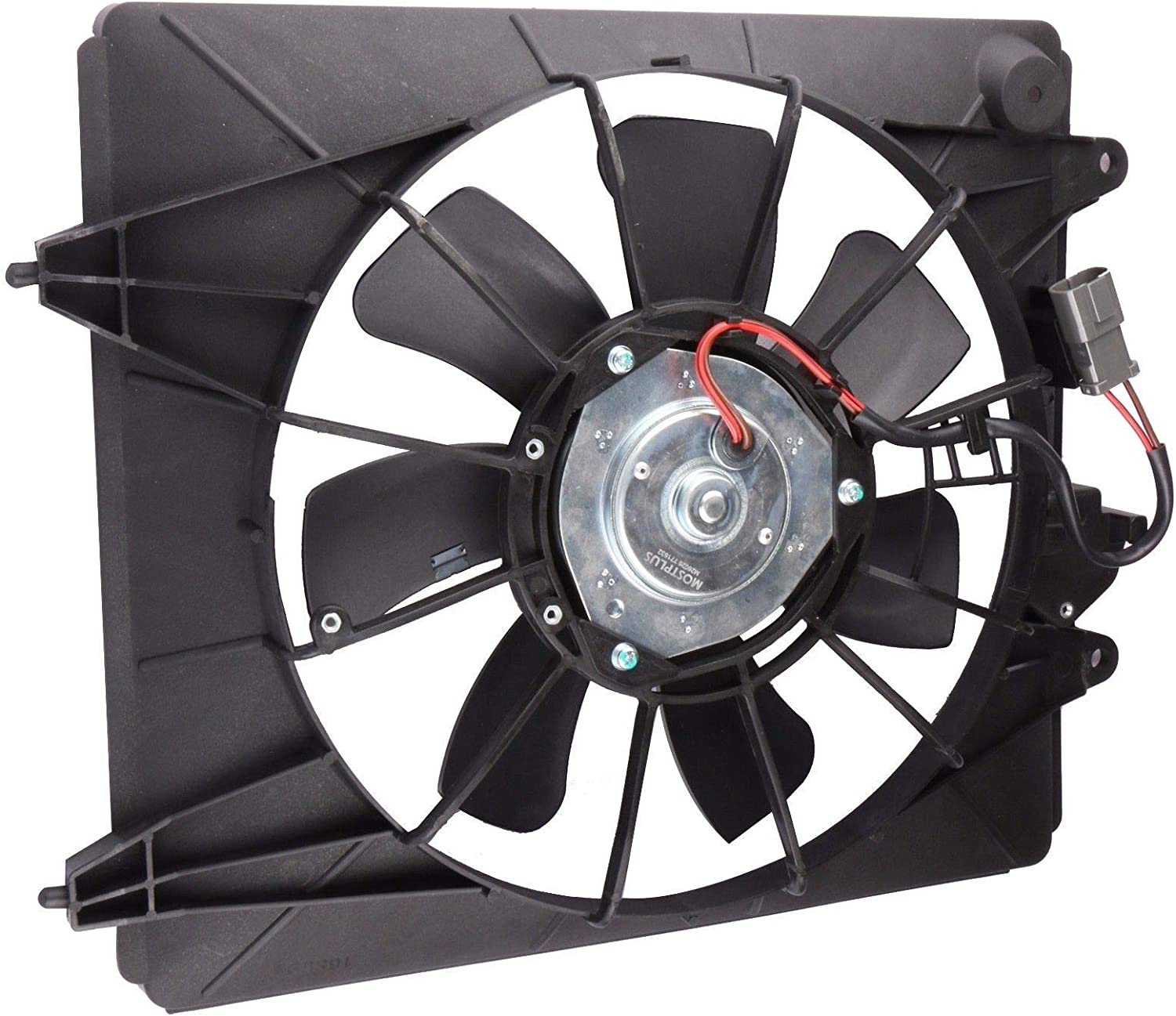 MOSTPLUS Left+Right Radiator and A//C Condenser Fan Assembly for 2007 2008 2009 Honda CR-V 2.4L Replaces 38615RZAA01