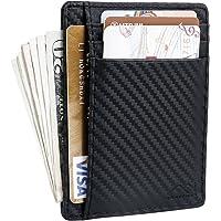 Porte Carte en Cuir Homme Portefeuille Mince RFID Blocage Porte Carte de Crédit