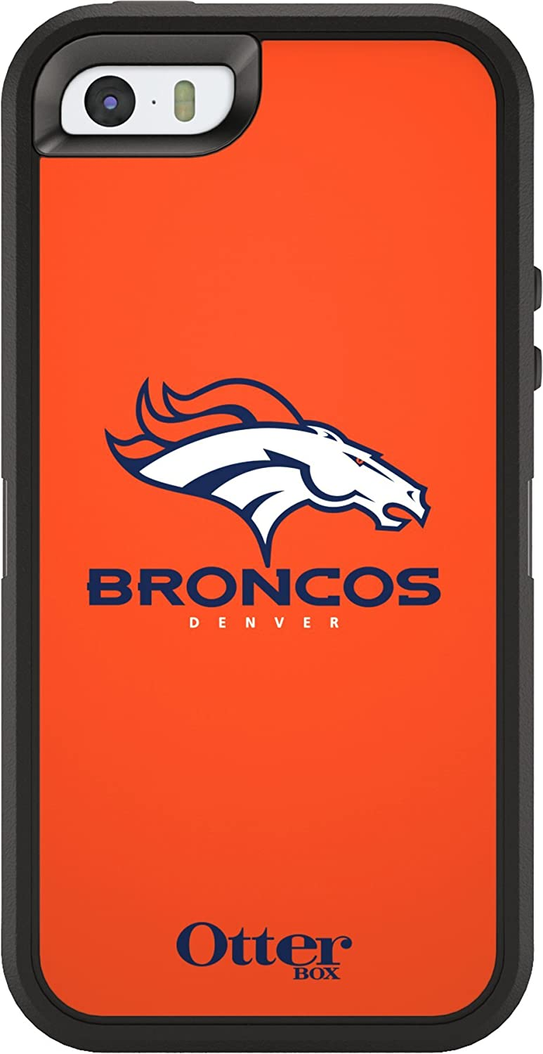 OtterBox Defender Case for Apple iPhone 5 and 5s - Retail Packaging - NFL Broncos (Discontinued by Manufacturer)