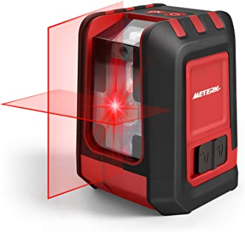 Meterk Cross Line Laser Level with Brightness Adjustment
