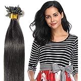40-55cm Extension Capelli Veri Naturali con Cheratina 100 Ciocche 50g/Pack U-Tip Allungamento Remy Human Hair