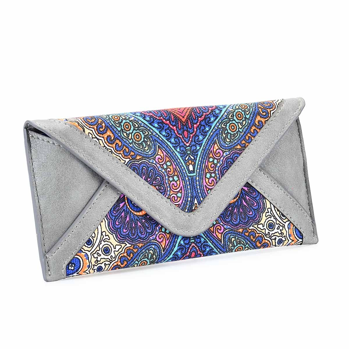 Women's Card Wallet Envelope Style Credit Card Holder Cute Cash Wallet for Ladies (Grey)