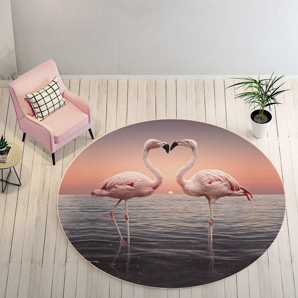 TEPXL Alfombra felpudos niña Perchero Flamingo Alfombra Dormitorio Silla Nordic Ordenador häng Extremos Cesta Noche Mantel