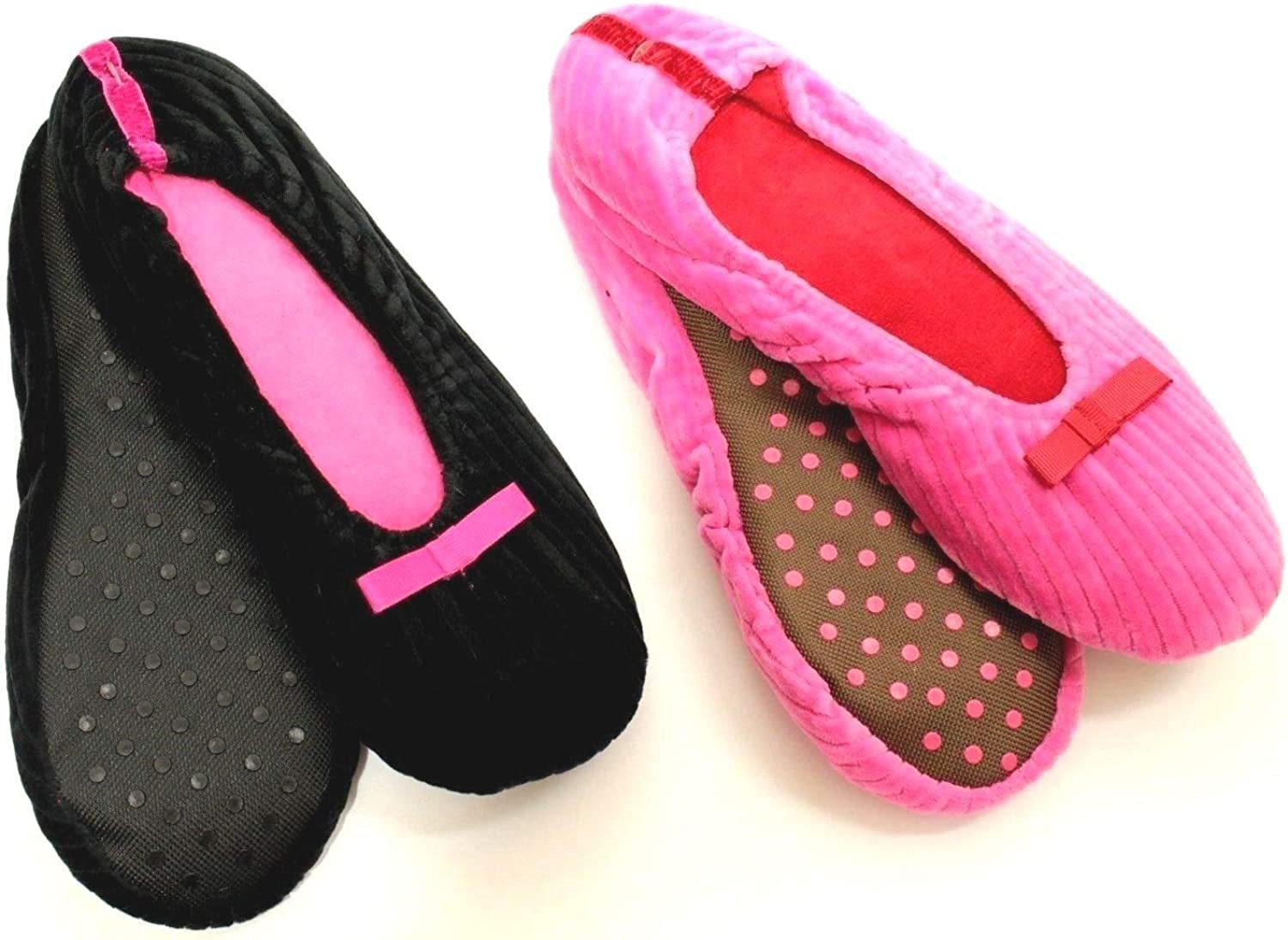 Crushed Velvet Pink Slippers Different Sizes Available