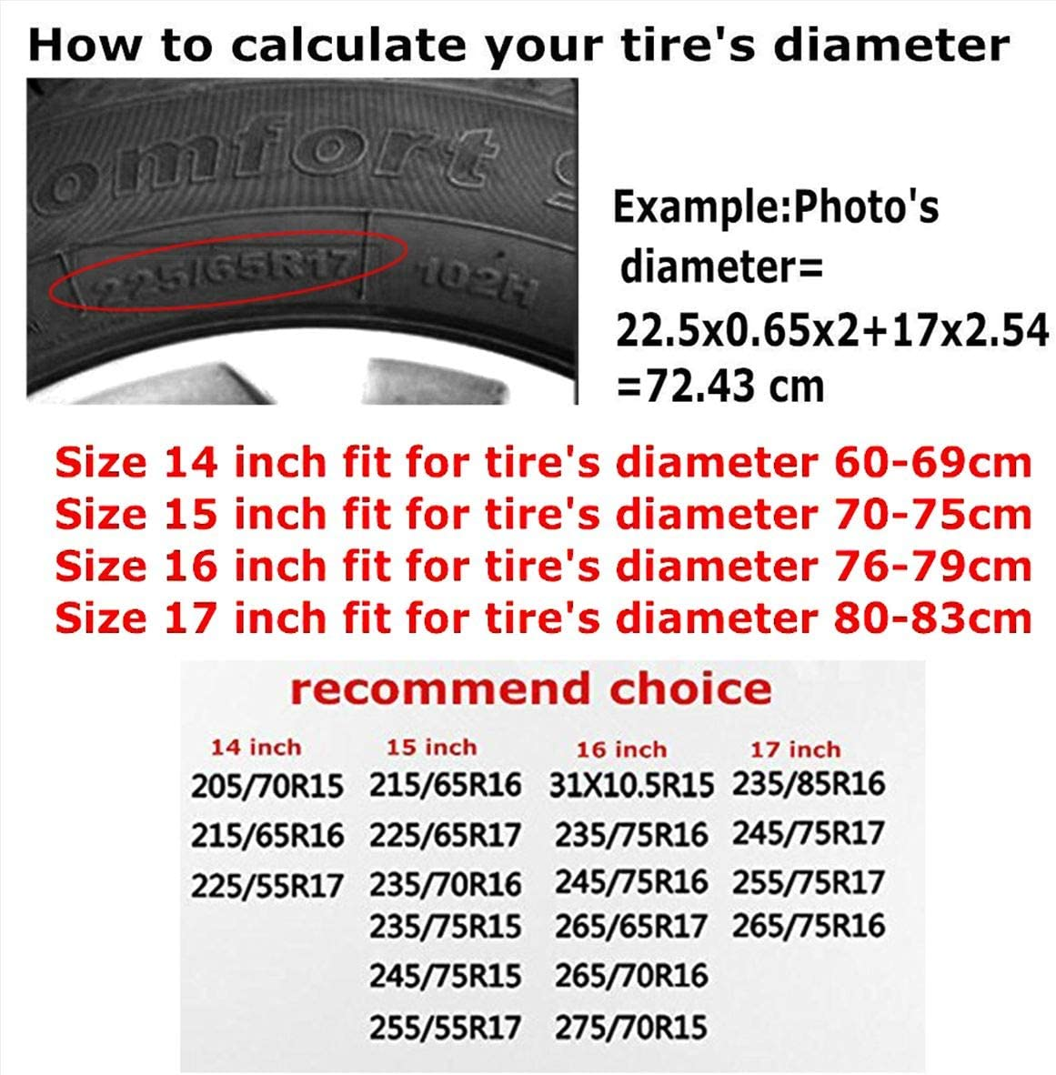 Trailer NHSJ Weatherproof Tire Protectors Spare Tire Cover Universal Fit for Jeep RV SUV Truck and Many Vehicle