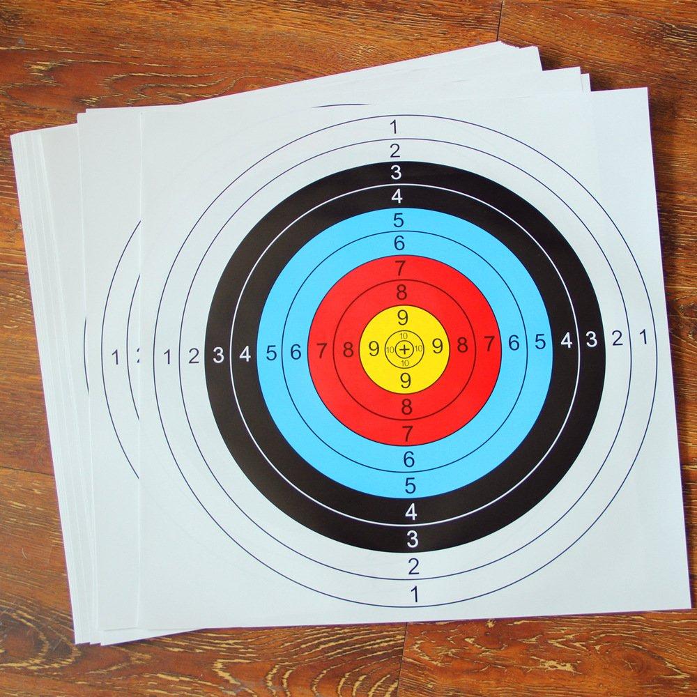 20 Piezas Dianas de Papel de Arco para Flecha, 60*60cm Accesorios de Tiro, Ideales para Hacer Juego y Practicar al Aire Libre ASeeker