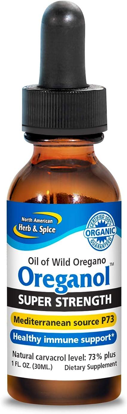 North American Herb Spice Super Strength Oréganol P73 1 Fl Oz Soporte Del Sistema Inmunológico Orégano Salvaje Certificado 285 Más Potente Que La Fuerza Regular No Omg