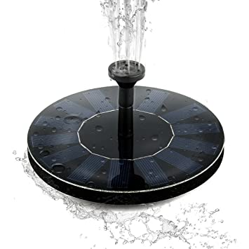 Solar Power Bird Bath Fountain,SOONHUA Solar Panel Water Floating Fountain  Pump Kit For Bird