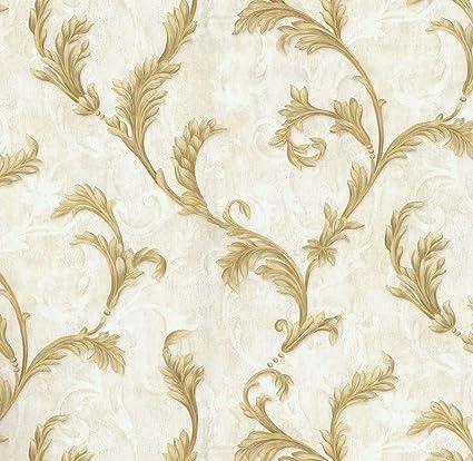 Buy Glowvia Art Wallpaper with Golden Flower Design for Home