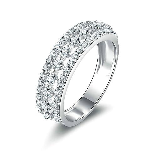 06ba8875449f86 AnazoZ Fedi Nuziali Particolari Bianco Zirconia Cubica Incisione Gratuita  Anelli Fidanzamento Diamanti: Amazon.it: Gioielli