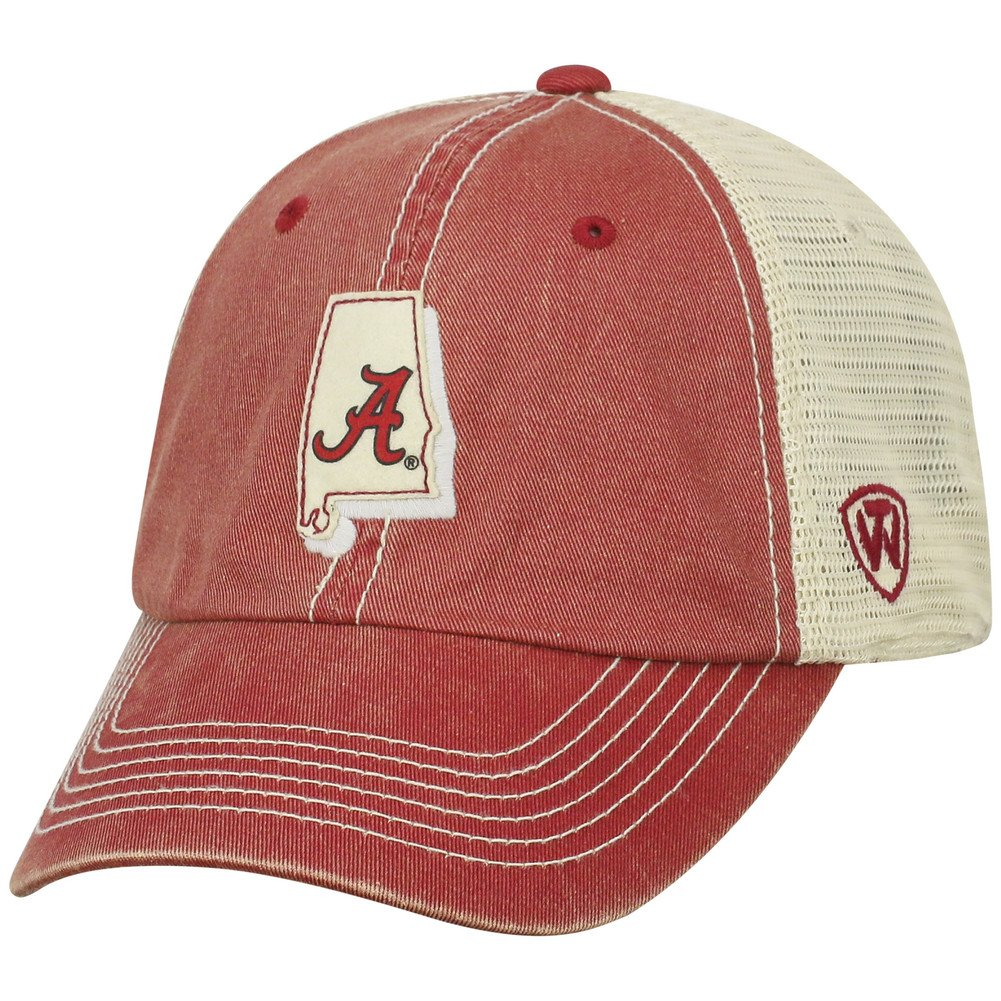 Top of the World Alabama Crimson Tide Men's Mesh-Back Hat Icon, Crimson, Adjustable