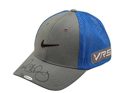 08caaebb54 Rory McIlroy Signed Autographed Nike Gray Blue Flex Fit Golf Hat 3 ...