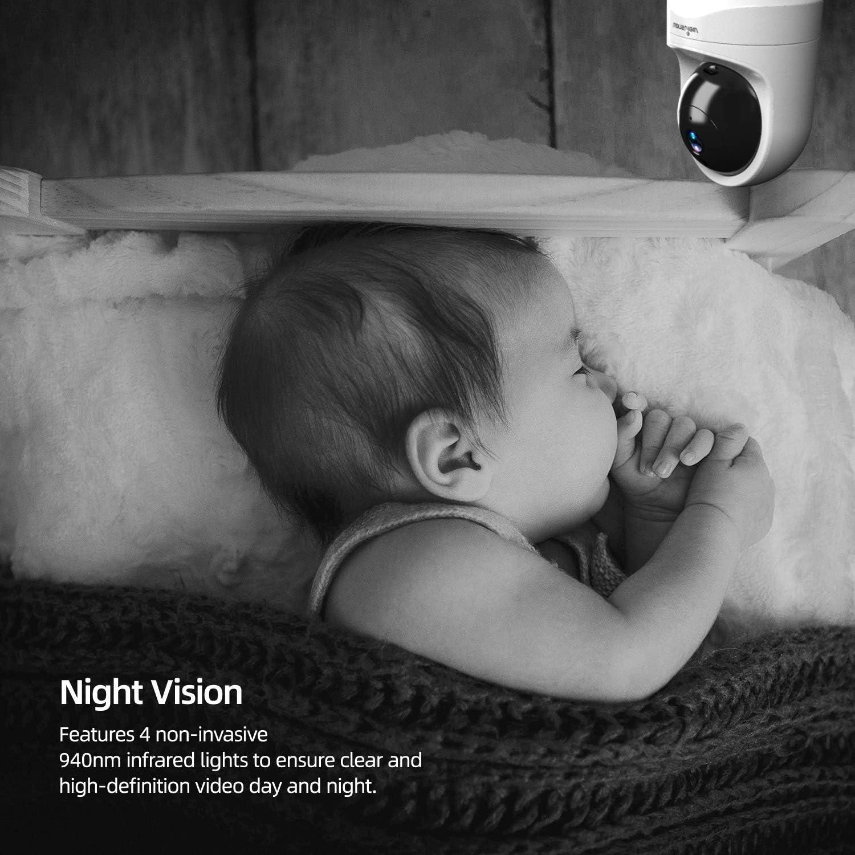 /Ältere Haustiere Monitor mit Bewegungserkennung Nachtsicht und Arbeitet mit Alexa Q6 Wei/ß Wansview /Überwachungskamera Zwei-Wege-Audio WLAN IP Kamera WiFi 1080P f/ür Baby