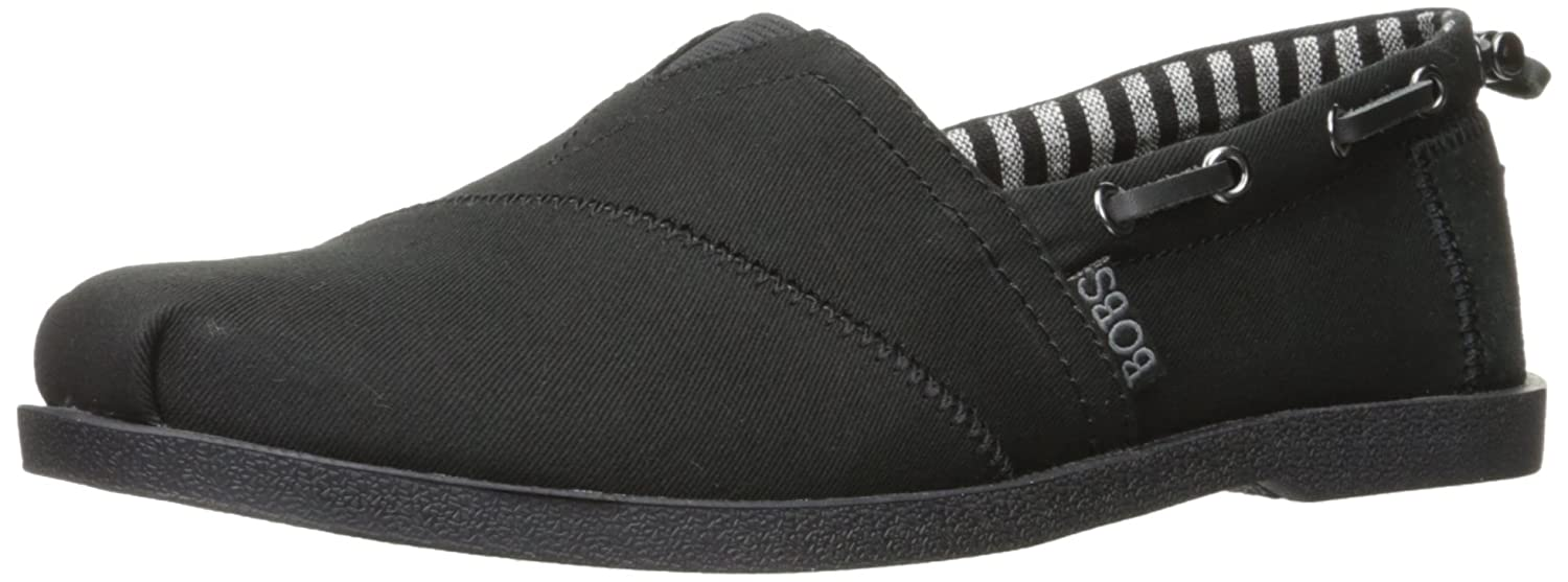 Skechers BOBS from Women's Chill Luxe Flat B019S9YNDS 5.5 B(M) US|Black/Black/White