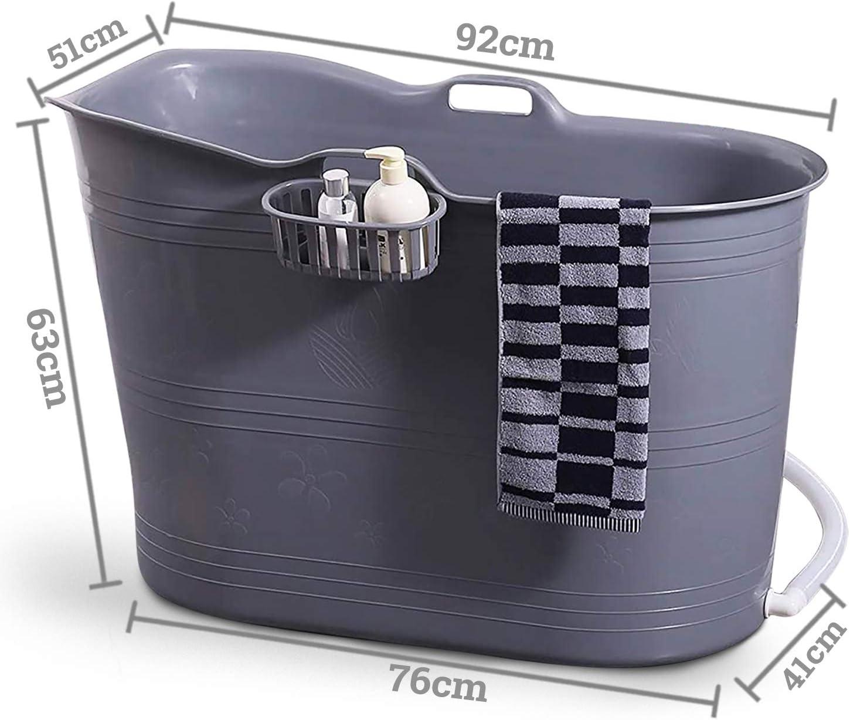 Mobile Badewanne Erwachsene XL und Kinder Bath Bucket Mobile Badewanne f/ür Erwachsene Badewanne Outdoor Tragbare Kunststoff Badewanne f/ür Dusche Ideal f/ür kleine Badezimmer Grau