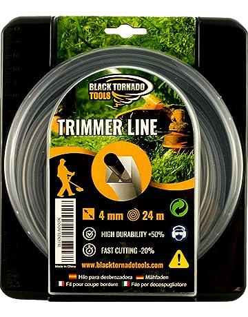 Black Tornado Tools Hilo para desbrozadora - Doble - Cuadrado - 4mm - 24m - Calidad