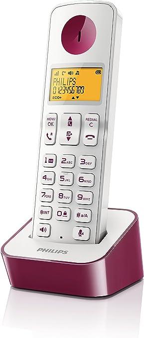 Philips D2101 - Teléfono single con manos libres, violeta: Amazon.es: Electrónica