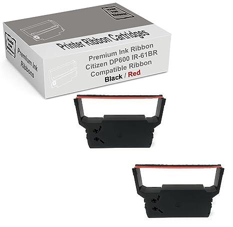 Amazon.com: Citizen DP600 rojo y negro cinta impresora 2 ...