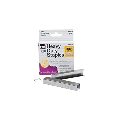 Charles Leonard Staples, Heavy Duty, 3/8 Inches Leg Length, Carbon Steel, Silver, 1000/Box (84038): Toys & Games