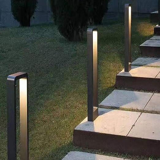 Vinmin 600MM LED lámpara de pie Exterior, Piso Camino Exterior de la lámpara Baliza, Wegeleuchte lámpara de pie Exterior Bolardo Gartenleuchte: Amazon.es: Hogar