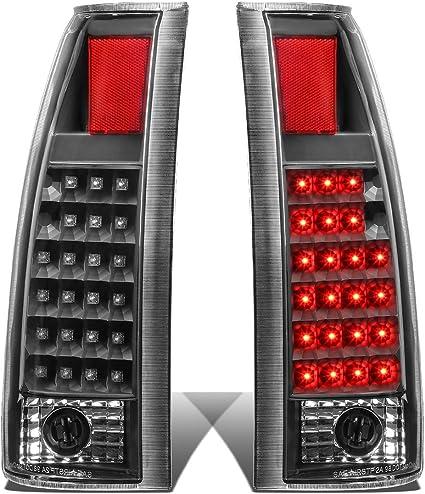 For 92-99 Chevy C//K Pickup Pair Full LED Tail Light Rear Brake//Stop Lamp Tinted