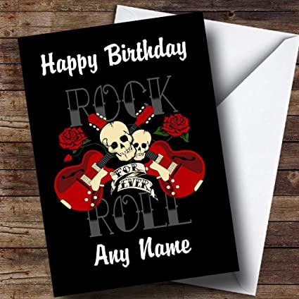 Amazon Com Rock N Roll Music Personalized Birthday