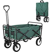 COOLBABY Foldable utility vehicle, heavy duty foldable outdoor garden cart, adjustable handle, suitable for garden…