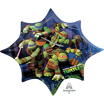 Anagram 35-inch/ 88cm Teenage Mutant Ninja Turtles SuperShape: Toys & Games