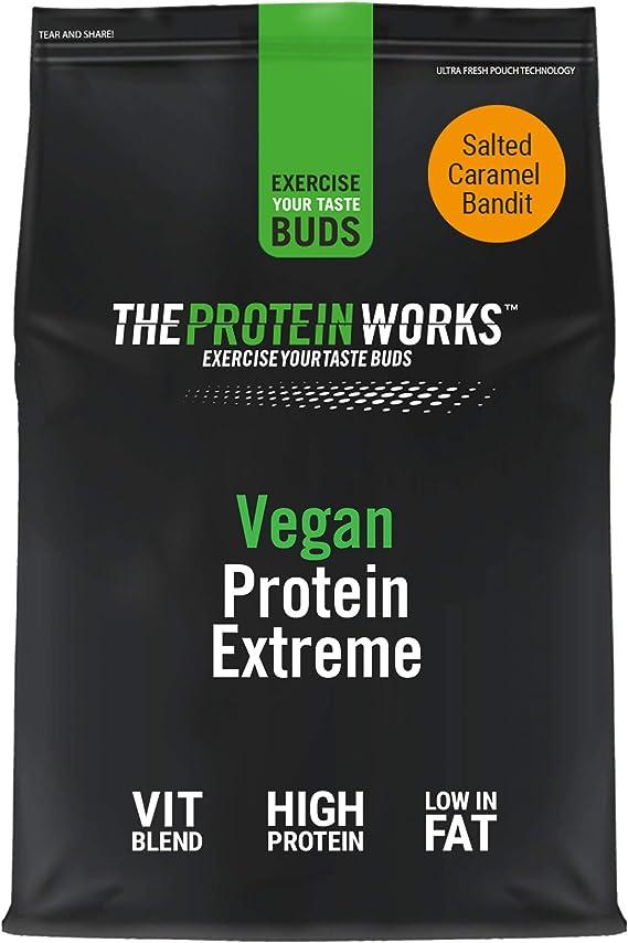 Proteína Vegana Extreme 500 g   Sabor Caramelo Salado   Gran fuente de Proteína vegetal