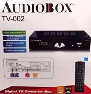 Audiobox Digital TV Converter Box Model: TV-002 HDMI RCA USB connections