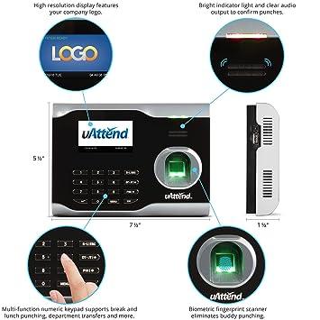Amazon.com : uAttend BN6000 Biometric Fingerprint Time Clock : Electronics