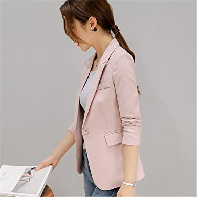 Sonder New Arrivals Blazer Sleeve Long Business Office Suit Pink