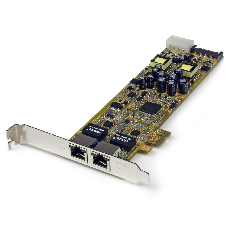 StarTech.com Dual Port PCI Express Gigabit Ethernet Network Card Adapter 2 Port PCIe NIC 10/100/100