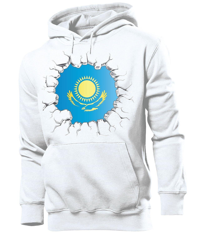 love-all-my-shirts Fussball Fanhoodie Kasachstan M/änner Herren Hoodie Pulli Kapuzen Pullover Fanartikel