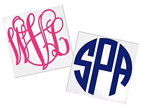 Monogram Decal Stickers For Yeti Your Choice Of Color Style Decals By Adavis