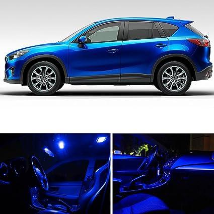 LEDpartsNow Mazda CX 5 CX5 2013 2017 Blue Premium LED Interior Lights  Package Kit