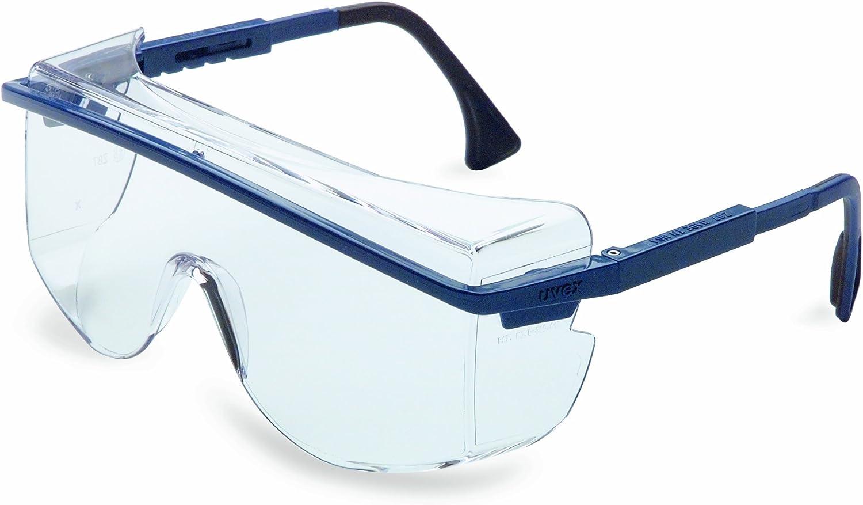 Honeywell Uvex S2500C Astrospec OTG 3001 Gafas de seguridad, marco negro, lente antivaho extremo transparente