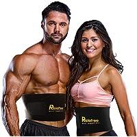 Waist Trainer Trims Belt for Men & Women Exercise Belt, Adjustable, Sweat belt, Portable sauna belt,Non-Slip Surface for Waist