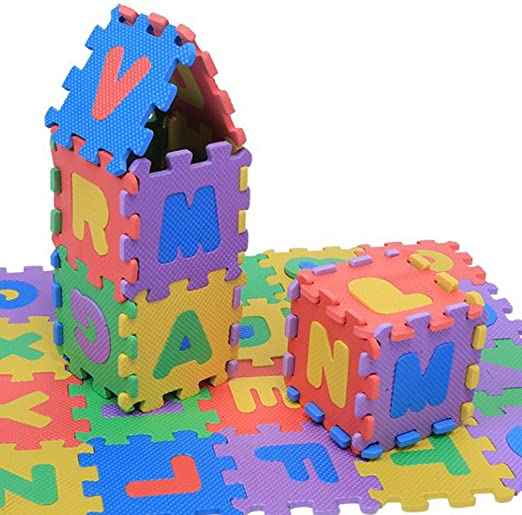WSS Suave Beb/é Infantil Alfombra Juegos Gimnasio Espuma LEtras y n/úmeros 36 Piece cada Azulejo Peque/ño 15 cm x 15cm
