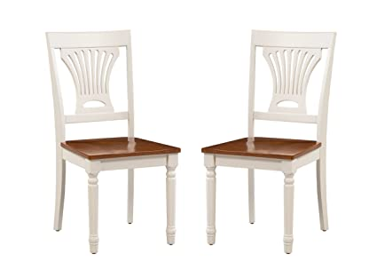 Amazon Com Trithi Furniture Portland Solid Wood White And Cherry