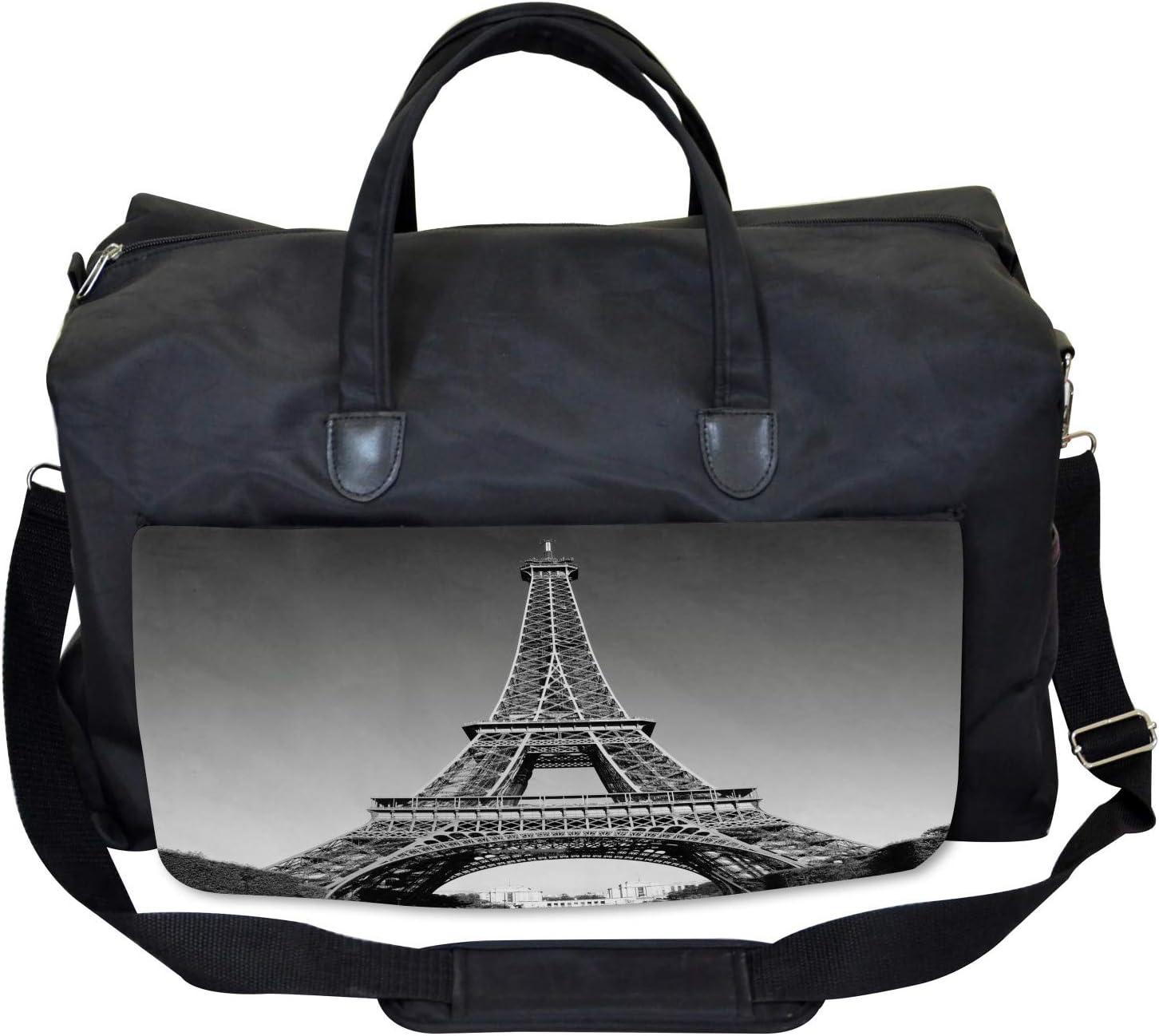 Paris Landmark Ambesonne Eiffel Tower Gym Bag Large Weekender Carry-on