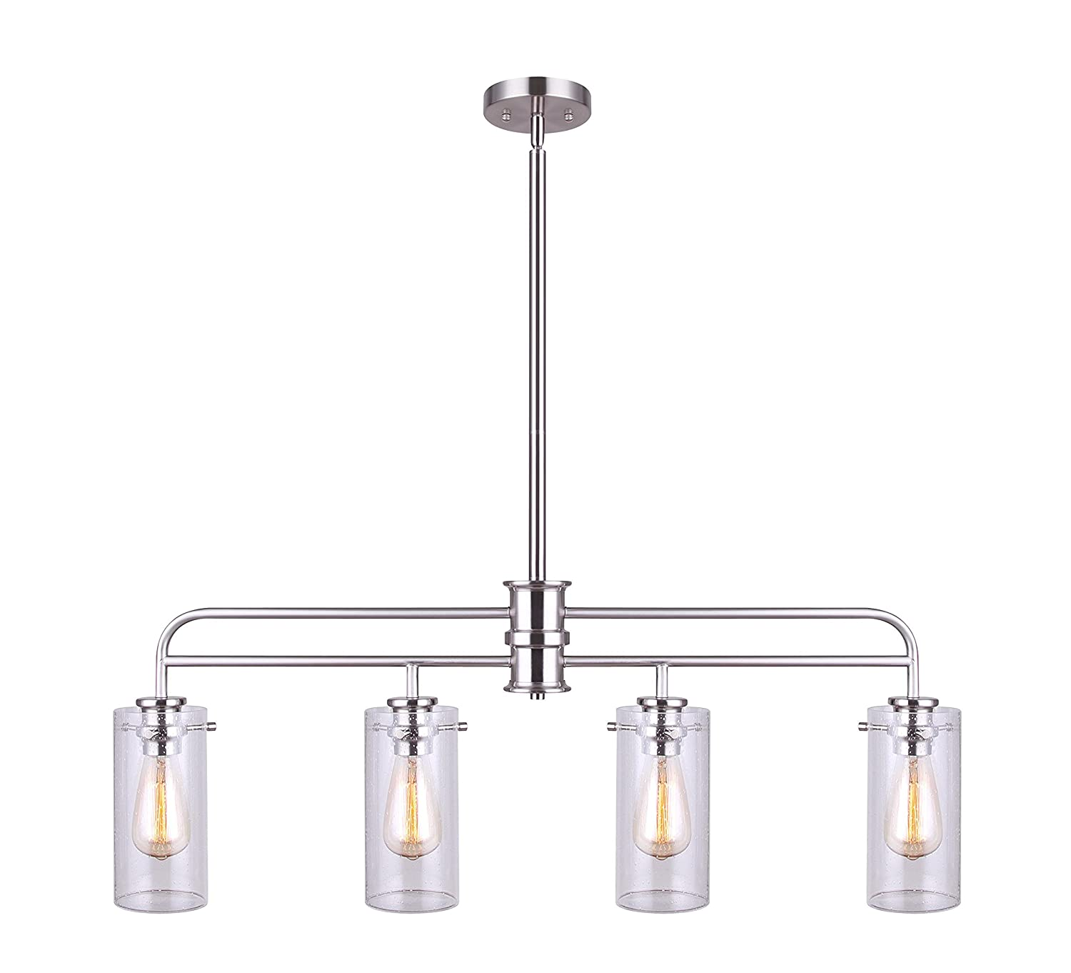 Canram IPL679A04BN Albany 4 Light Pendant with Brushed Nickel Finish