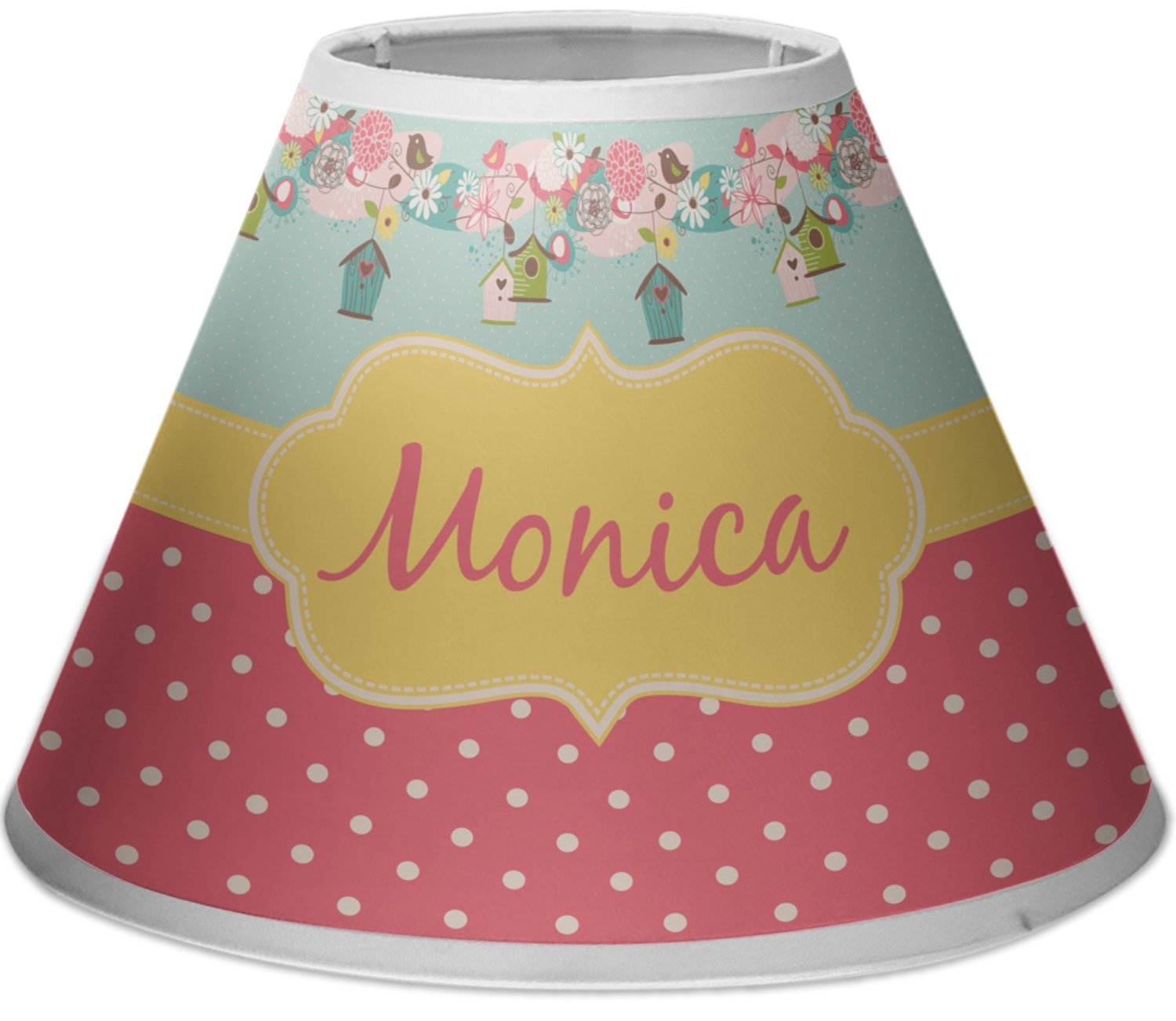 RNK Shops Easter Birdhouses Empire Lamp Shade (Personalized) by RNK Shops