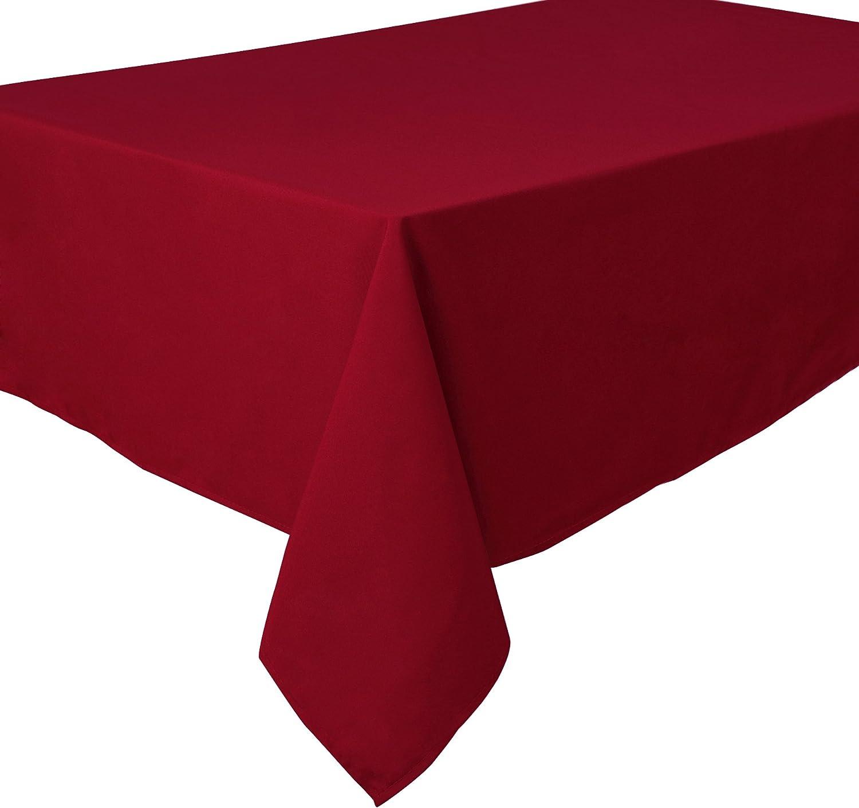 Facile dentretien Carr/ée 180 x 180 cm Uni Bordeaux Home Direct Nappe de qualit/é Lourde